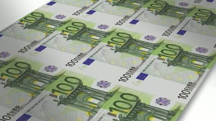 Mint - Printing 100 euro bills