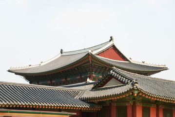 Korean old buildings from outside and inside.