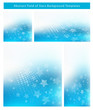 Abstract Blue Background Set with stars and text space.