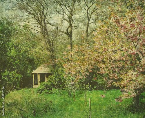 vintage cottage garden