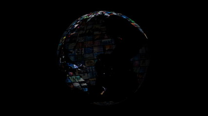 World Map - Earth Video Sphere