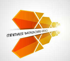 Minimalist perspective orange background. Vector illustration.