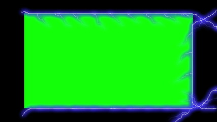 Electricity Frame - Electrical Arcs (Chroma Key)
