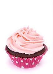 Pink Cupcake on white