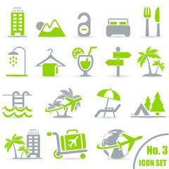 Reisen und Urlaub Icons