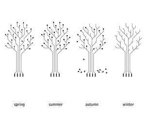 vector technology seasonal conception (circuit board tree)