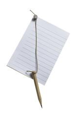 Notizzettel mit Bleistift