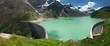 Kaprun Dam, lake and Alps