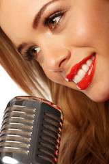 Red Lips And Microphone