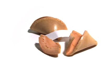 Chinese Fortune Cookie (opened)