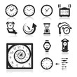 Clocks Icons set elegant series