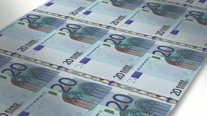 Mint - Printing 20 euro bills
