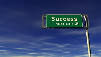 Success Freeway Exit Sign