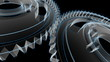 Gears Blueprint Turning - Wireframe X-ray