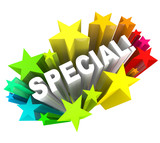 Special Word Stars Unique Savings Sale Event