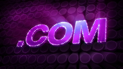 .COM Glitter Sparkle Text