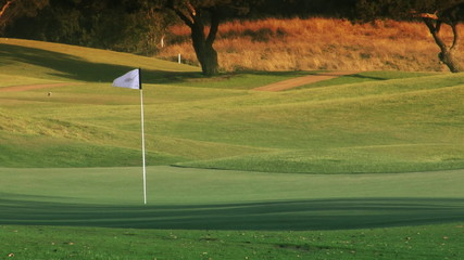 Golf Course Hole, Green & Flag