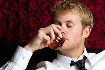 Man Drinking Alcohol