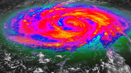 Hurricane Infrared Satellite View