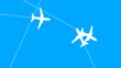 Jet Plane Air Travel (Looping Animation)