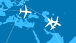 Global Air Travel (Looping Animation)