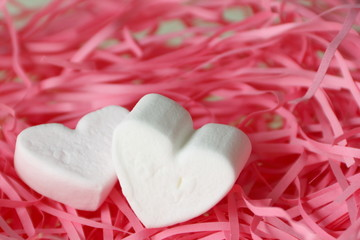 Marshmallow heart