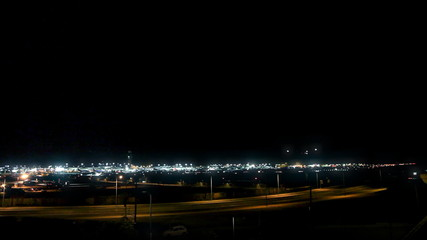 Jet Airliner Landing at LAX (Night)