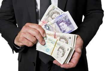 Britische Pfund-Buisness man.