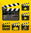 Set of clapboard design elements and icons