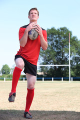 Man playing rugby