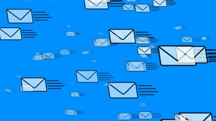 Mail Flying (Email Envelopes)