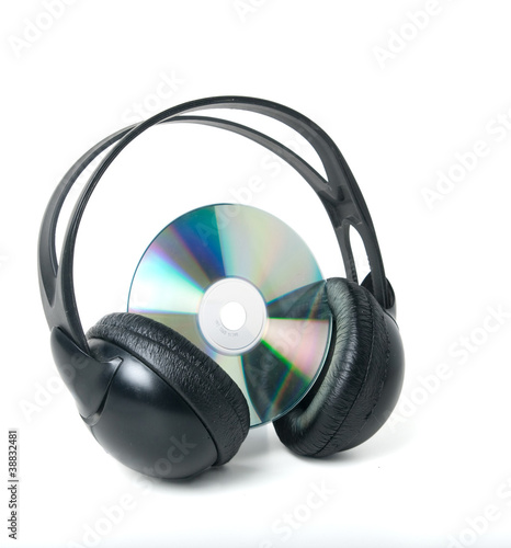 Music CD and headphones