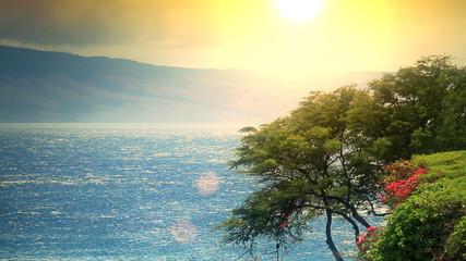 Lanai from Maui Sunset