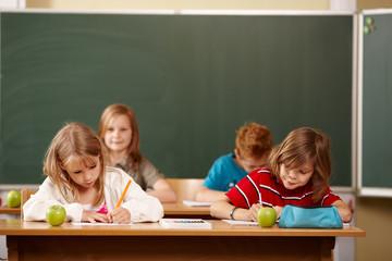 Klassenarbeit in der Grundschule