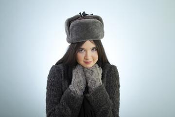 She feel cold