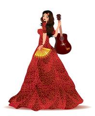 Spanish girl, vector illustration