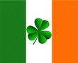 Ireland Irish Flag and Shamrock