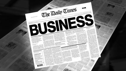 Business - Newspaper Headline (Intro + Loops)