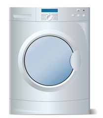 Washing machine in vector