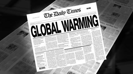 Global Warming - Newspaper Headline (Intro + Loops)