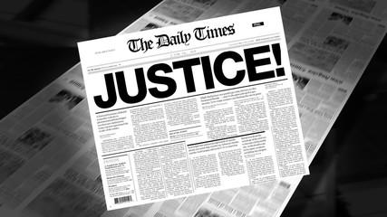 Justice! - Newspaper Headline (Intro + Loops)