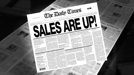 Sales Are Up - Newspaper Headline (Reveal + Loops)