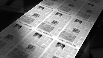 Newspapers Printing (Loop)