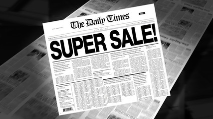 Super Sale - Newspaper Headline (Intro + Loops)