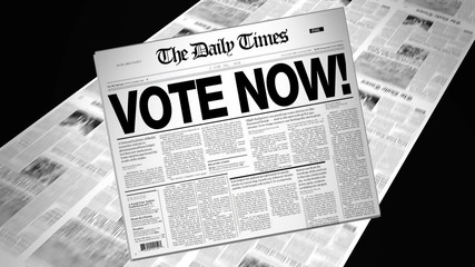 Vote Now! - Newspaper Headline (Reveal + Loops)