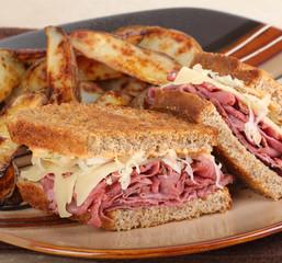 Reuben Sandwich Closeup