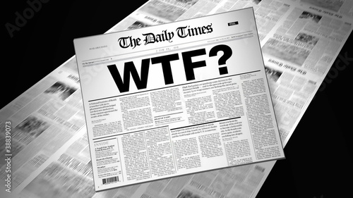 Slang WTF? - Newspaper Headline