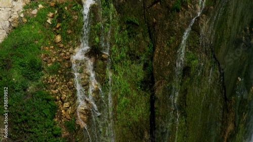Stock Video Footage of side and bottom of waterfall shot in Israel at 4k with Red.