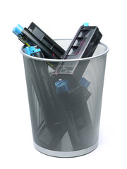 Used laser printer cartridges