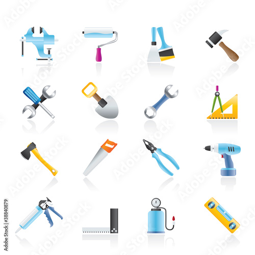 Building and Construction work tool icons
